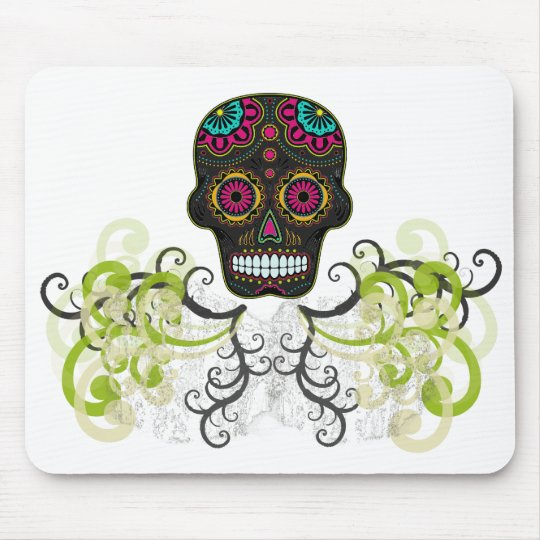 Sugar Skull Tattoo Mouse Pad