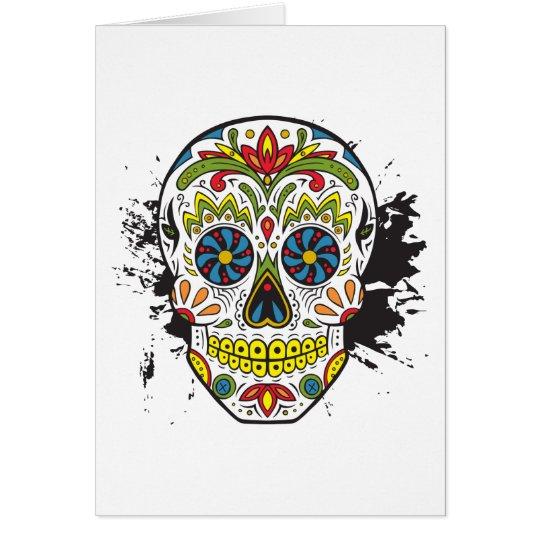 Sugar Skull, Tattoo Skull, Mexican Skull Card