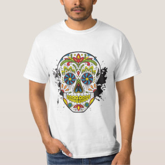 Sugar Skull, Tattoo Skull, Mexican Skull T-Shirt