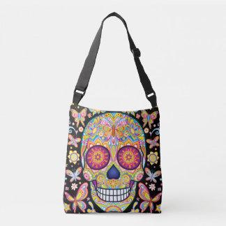 Sugar Skull Tote Bag / Cross Body Bag