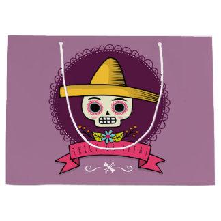 Sugar Skull. Trick or Treat. Large Gift Bag