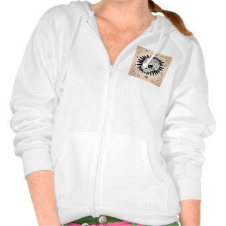 Sugar skull hooded sweatshirts