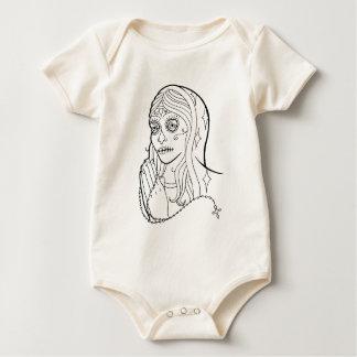 Sugar Skull Virgin Baby Creeper