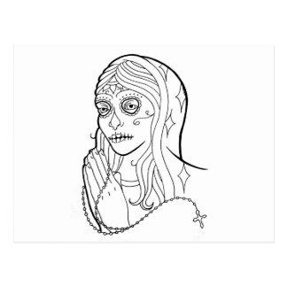 Sugar Skull Virgin Post Cards