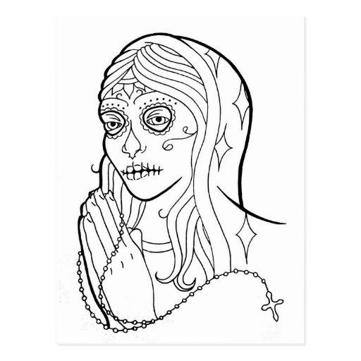 Sugar Skull Virgin Postcards