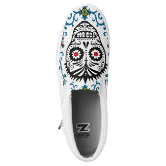 Sugar Skull Voodoo Slip On Shoes