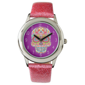 Sugar Skull Watch - Day of the Dead Art
