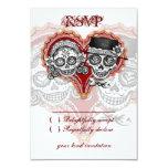 Sugar Skull Wedding Day of the Dead RSVP Cards 9 Cm X 13 Cm Invitation Card