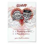 Sugar Skull Wedding Day of the Dead RSVP Cards Personalized Invitations