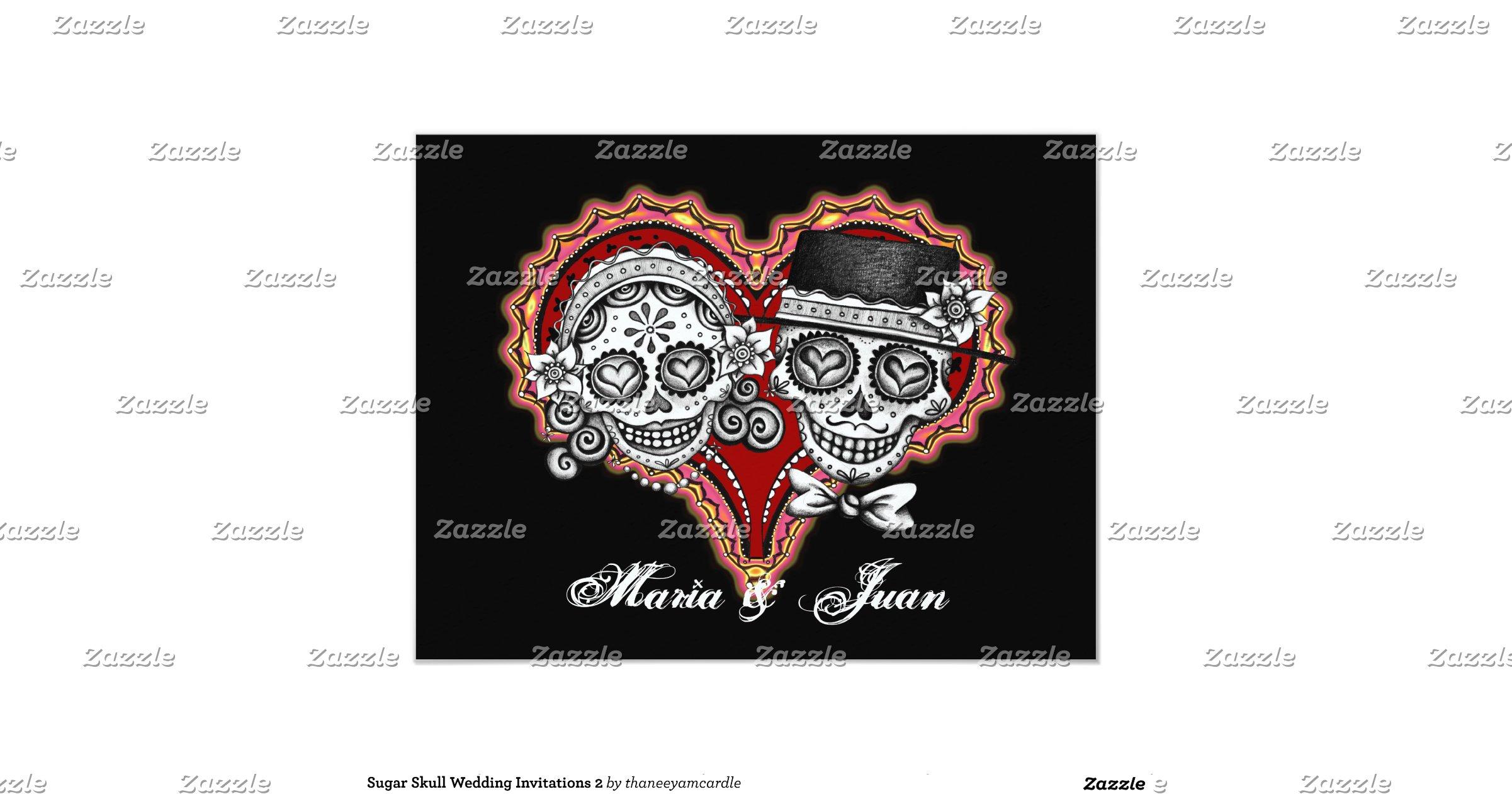 wedding skeleton skulls invitation zazzle - 28 images - skull ...