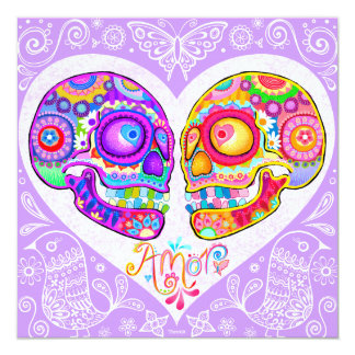 Sugar Skull Wedding Invitations - Day of the Dead