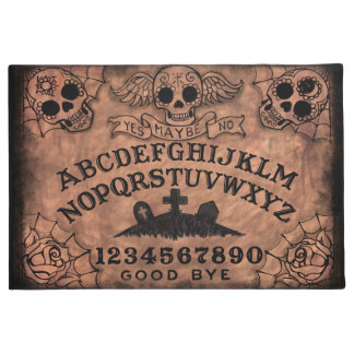 Sugar Skull Witch Board Door Mat