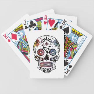 Sugar skull with bikes bicycle playing cards