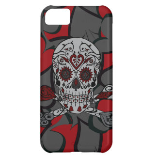 Sugar Skull with Crossbones Playing Card Design iPhone 5C Case