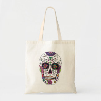 Sugar Skull with Flowers Tote Bag