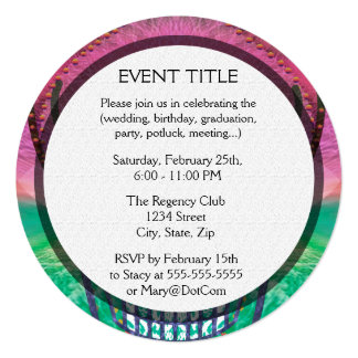 Sugar skull with rainbow colored background custom announcements