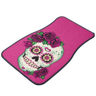 Sugar Skull with Roses Car Mat