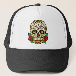 Sugar Skull with Roses Trucker Hat