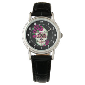 Sugar Skull with Roses Watch