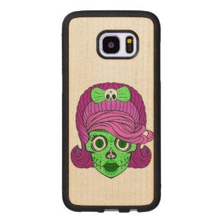 Sugar Skull Wood Samsung Galaxy S7 Edge Case