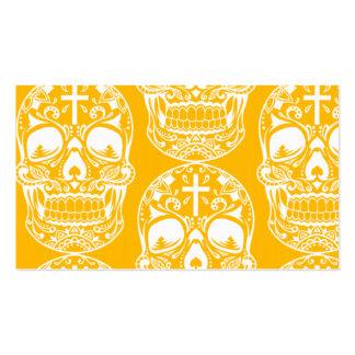 Sugar Skull Yello.png Business Cards