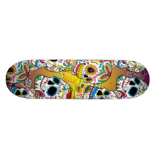 Sugar Skulls 18.1 Cm Old School Skateboard Deck