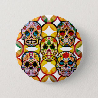 Sugar Skulls 6 Cm Round Badge
