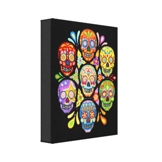 Sugar Skulls Art on Canvas - Ready to Hang! Canvas Print