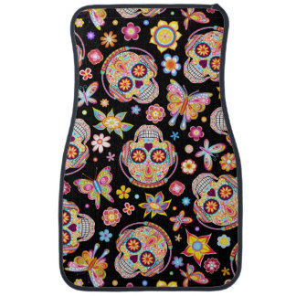Sugar Skulls Car Mats - Front Set of 2