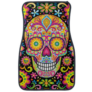 Sugar Skulls Car Mats - Front Set of 2 Car Mat
