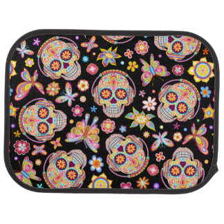 Sugar Skulls Car Mats - Rear Set of 2