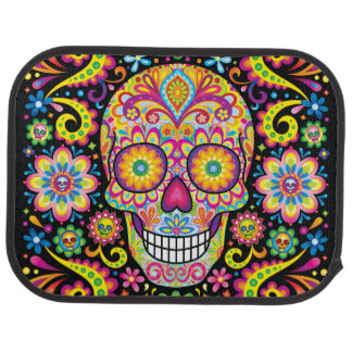 Sugar Skulls Car Mats - Rear Set of 2 Floor Mat
