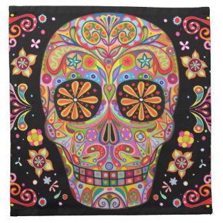Sugar Skulls Cloth Napkins Set of 4