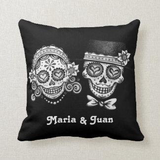 Sugar Skulls Couple Pillow - Customize it! Cushion