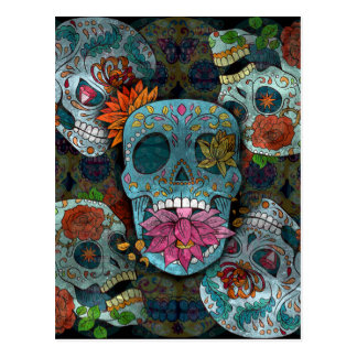 Sugar Skulls Design Postcard