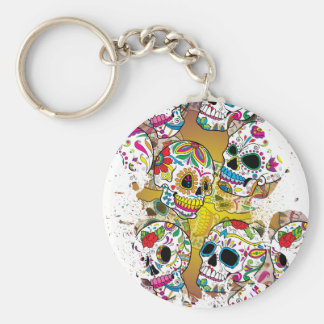 Sugar Skulls Key Chain