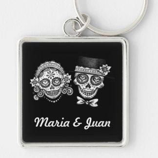 Sugar Skulls Keychain - Customize w/your names!