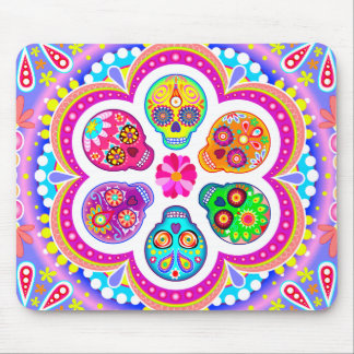 Sugar Skulls Mousepad - Day of the Dead Art