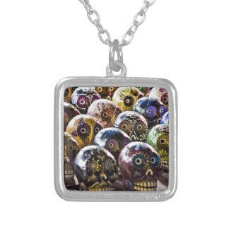 Sugar Skulls Necklace Small SP Square