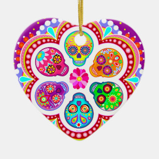 Sugar Skulls Ornament - Colorful Day of the Dead