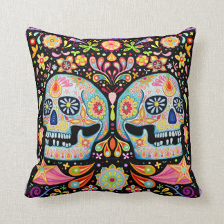 Sugar Skulls Pillow Throw Cushion