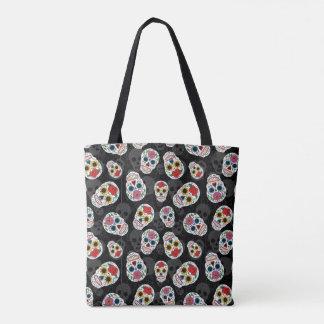 Sugar Skulls print Tote Tote Bag
