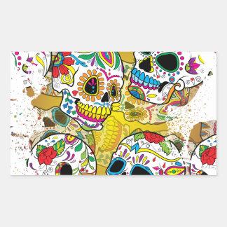 Sugar Skulls Rectangular Sticker