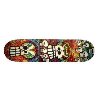 Sugar Skulls Skateboard Design
