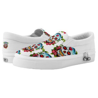 Sugar Skulls Slip On Shoes