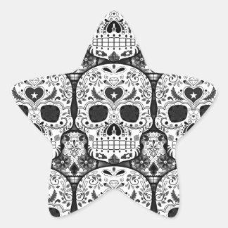 Sugar Skulls Star Sticker