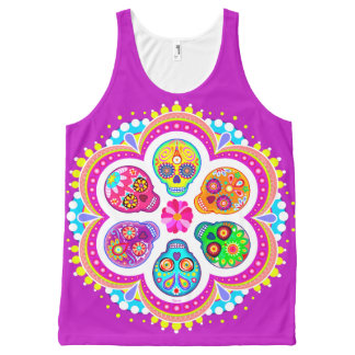 Sugar Skulls Tank Top - Day of the Dead Tank Top All-Over Print Tank Top