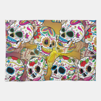 Sugar Skulls Tea Towel
