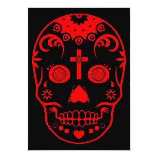 sugar skullz 13 cm x 18 cm invitation card