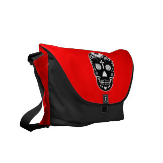 sugar skullz : 2 messenger bag